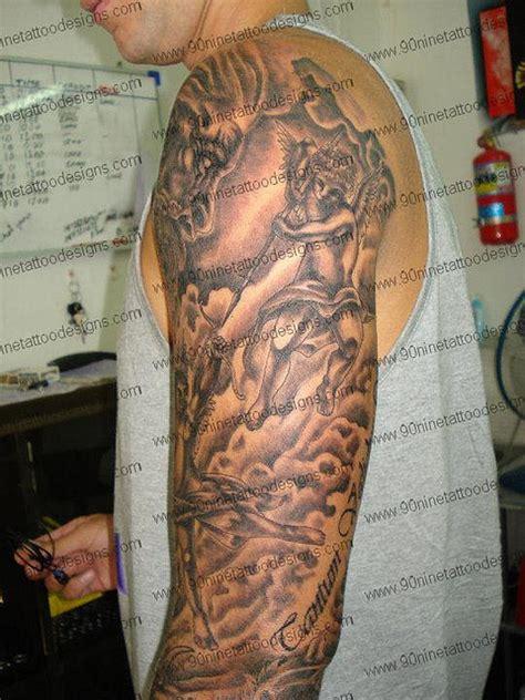 christian tattoos  sleeve