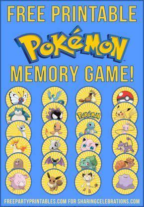 printable pokemon memory game   pokemon party