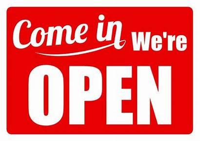 Open Sign Closed Come Door Window A4