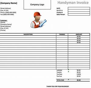 Free handyman invoice template excel pdf word doc for Printable handyman invoice