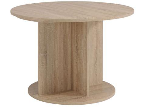 Table Ronde Conforama Table Ronde Avec Allonge L145 Cm Max Fumay Coloris Ch 234 Ne Brut Et B 233 Ton Vente De Bar Et