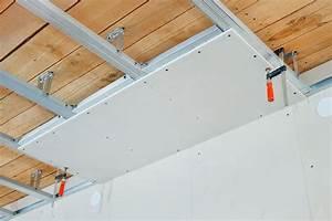 Poser Placo Mur Avec Rail : comment faire un faux plafond pose placo plafond tape par tape comment maison ~ Melissatoandfro.com Idées de Décoration