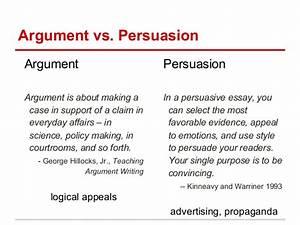 argumentative vs persuasive
