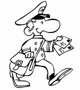 Mailman Postman Coloring Mail Drawing Jobs Pages Drawings Timtim Postal Occupations Bw Printable Mad Getcolorings Yard Service sketch template