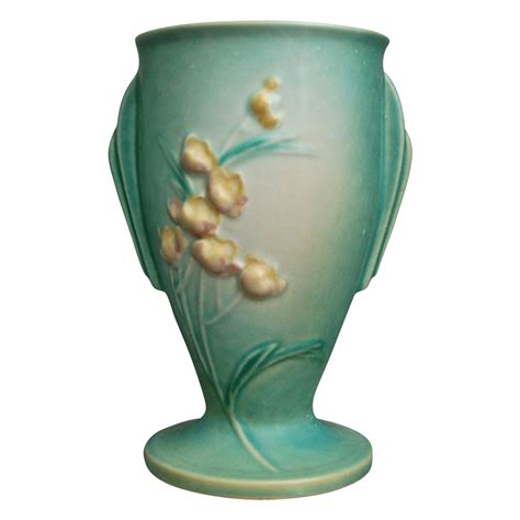 furniture roseville ca roseville pottery ixia vase 854 7 green ca 1937 from