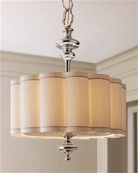 chandelier l shade scalloped shade chandelier