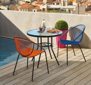 logiciel cuisine alinea chaise de jardin tressee couleur orange et bleu style