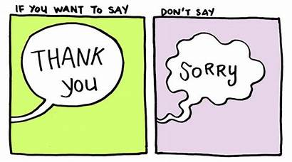 Sorry Thank Say Comic Saying Instead Stop