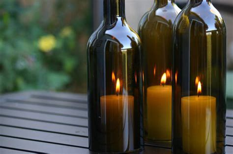 wine bottle candle holder eight everyday uses for empty wine bottles