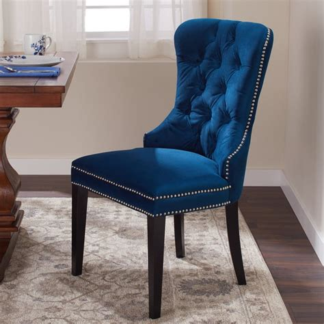 shop abbyson versailles blue tufted dining chair  sale