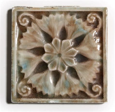seven matching antique fireplace tiles by trent tile