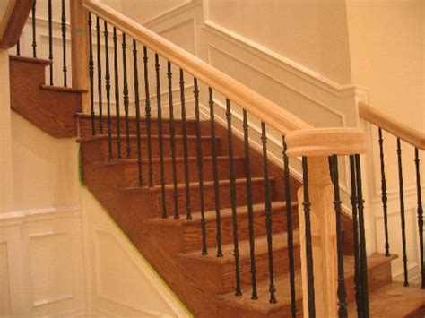 wrought iron spindles oak stairs pictures from stairspictures com