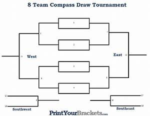 8 player compass draw tournament bracket printable With 8 team bracket template