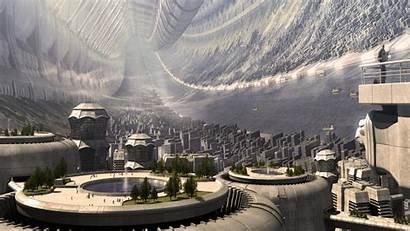 Space Future Citadel Wallpapers Torus Artwork Distant