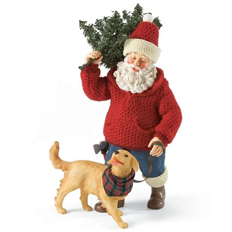 santa  dog  dreams figurine