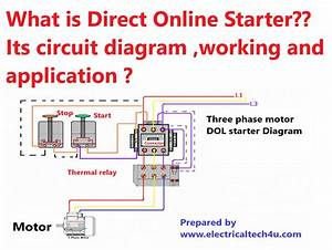 What Is Direct Online Starter  Working Principle And
