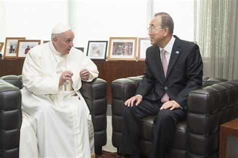siege du pape onu info visite historique du pape françois au siège des