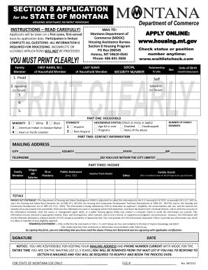 section 8 housing application fillable housing mt paper application for section 8