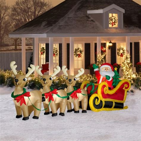 reindeer sleigh lawn decorations for christmas 61 best images about santa sleigh and reindeer outdoor decoration on hats