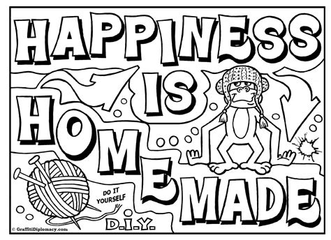 omg  graffiti coloring book  room signs learn
