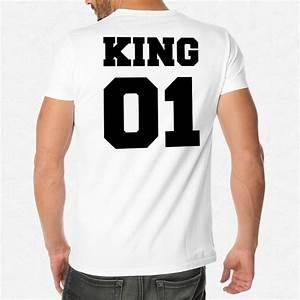 T Shirt Homme Blanc : t shirt homme blanc king 01 mayooo t shirts et accesoires cool pour gens cool ~ Melissatoandfro.com Idées de Décoration