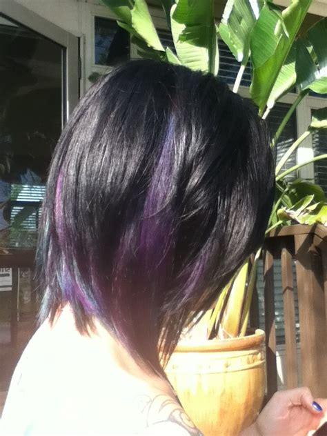 long angled layered bob purple love haircuts