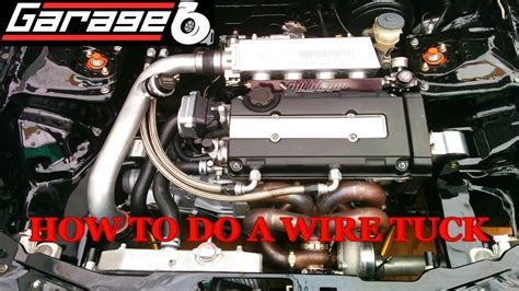 garage b how to do a wire tuck part 1 harness removal wire cutting routing youtube