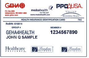enter geha connection dental federal member information