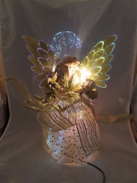 light up angel tree topper lighted angel tree topper shop collectibles online daily