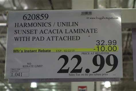 harmonics laminate flooring sunset acacia costco sale harmonics laminate flooring frugal hotspot