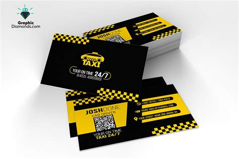 taxi business card template business card templates