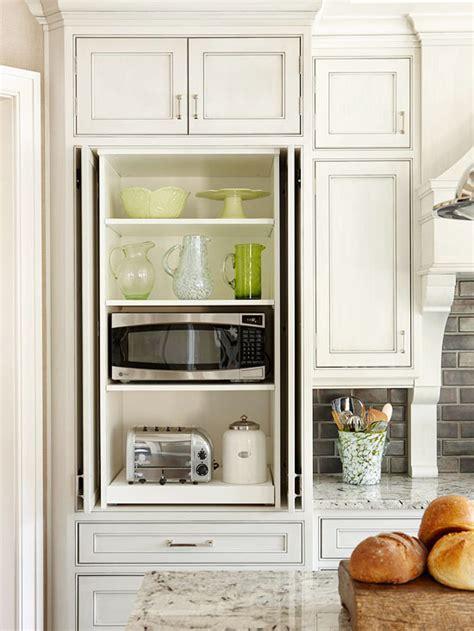 Hidden Microwave Cabinet   Transitional   kitchen   BHG