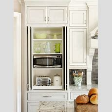 Hidden Microwave Cabinet  Transitional  Kitchen  Bhg