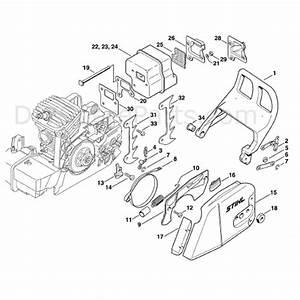 Stihl Ms 310 Chainsaw  Ms310  Parts Diagram  Chain Brake