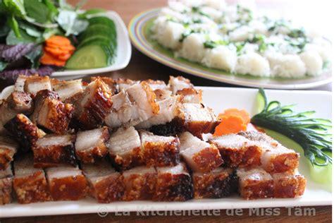 recettes de cuisine vietnamienne porc laqué croustillant thịt heo quay la kitchenette de miss tâmla kitchenette de miss tâm