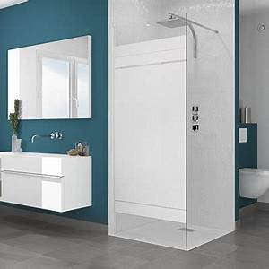 paroi de douche espace aubade With porte de douche coulissante avec meuble salle de bain forme arrondie