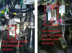 Diy  Locate Pgm  Fuel Pump Relay    Main Relay