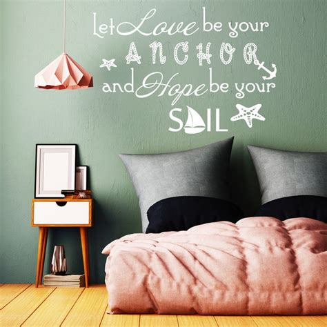 quote wall decal  love   anchor family vinyl
