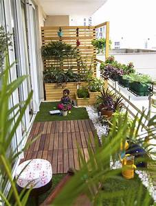 Jardin Et Balcon : am nager un balcon troit avec brise vue en bois pin et ~ Premium-room.com Idées de Décoration