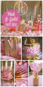 pink and gold party theme sweet 16 or complianos kids