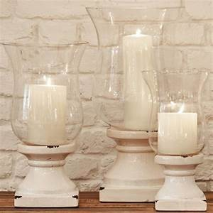 Small white hurricane for Kitchen colors with white cabinets with hurricane candle holders uk