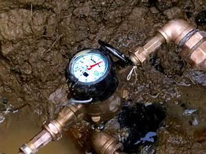 Leak Testing For A Water Line Leak Using A Water Meter