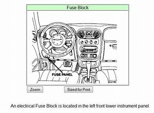 2003 Pt Cruiser Fuse Box Location