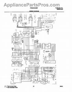 Parts For Frigidaire Frs23h5asb7  Wiring Diagram Parts