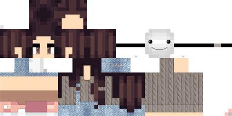 minecraft pe skins template girl crafting