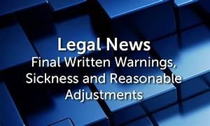 Final Written Warning  Sickness  U0026 Reasonable Adjustments