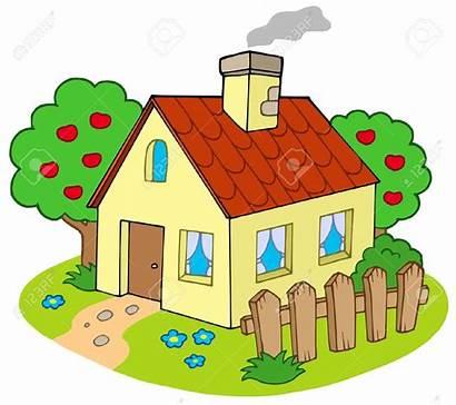 Clipart Haus Garden Garten Cliparts Village Chimney
