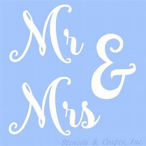mr mrs stencil stencils template templates word words With letter stencils for fabric painting