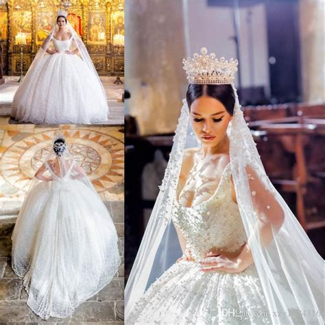 Discount Stunning Gorgeous Luxury Wedding Gowns Sexy Off Shoulder Big Pearls Bow Open Backless