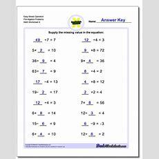 Mixed Operation Prealgebra Worksheets